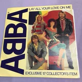 "Abba - Lay All Your Love On Me 12"" Single"
