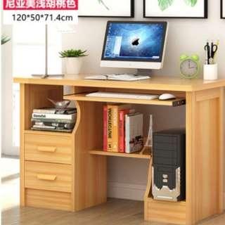電腦台式電腦桌 家用書桌書架組合簡易辦公桌子簡約現代寫字桌2