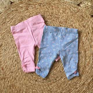 TARGET Girl's Leggings Bundle Size 0-3 Months