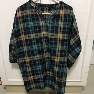 CLN Plaid Loose Polo(Pre-loved)