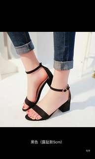 黑色/灰色/粉色平㡳鞋