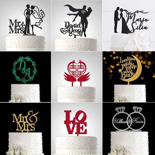 PersonaliZed Wedding Celebration Cake Topper