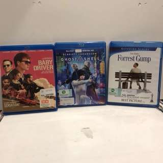 BABY DRIVER, GHOST IN THE SHELL, FORREST GUMP