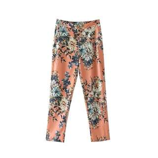 Zara inspired muted floral printed Capri pants