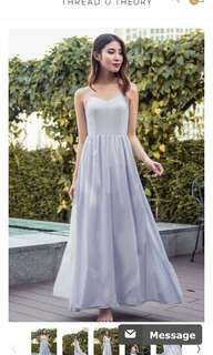 In the Mist Maxi Dress Lavender White