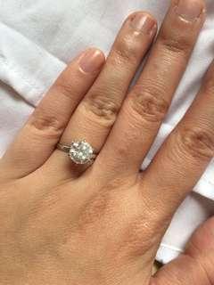 全新CARAT三卡人工鑽石戒指