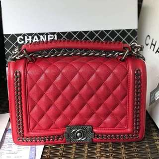 CHANEL CAVIAR RED
