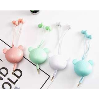[Clearance] 3D Bear Couple Earphone + Organizer