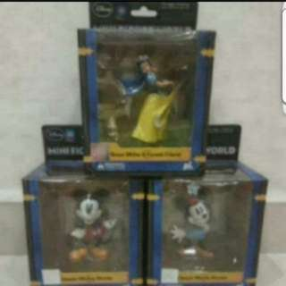 In Stock Disney Mini Figure World Classic Mickey Mouse Minnie Mouse Snow White & Forest Friend