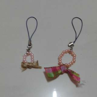 Brand new handmade ribbon bead key chains for sale