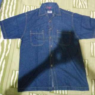 kemeja denim greg laurent