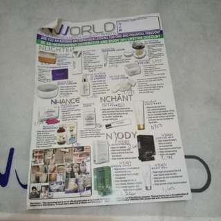 Nworld Products NOW SELLING!!!