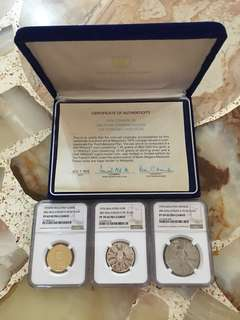 Fundraising Sale - 1976 Malaysia 3rd 5-Year Gold Silver & Cupro Nickel Proof Coin Set NGC 69 70 Super Cameo