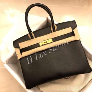 黑金epsom b30 一手價優Brand new Hermes Black Birkin 30 GHW epsom