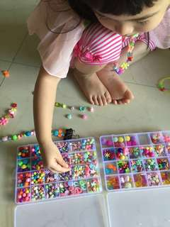 Beads for creativity and finger muscle and many more benefits other than have fun