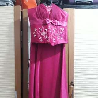 Long dress baju pesta