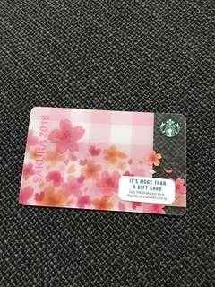 Starbucks Singapore Sakura Card