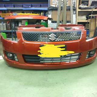 Suzuki swift front bumper with forked light