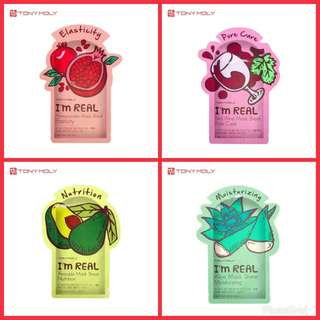 4in1 Tony moly face mask shipping only