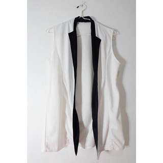 White with Black Line Outerwear