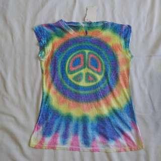 Tie dye peace rainblw