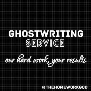 Ghostwriting Service!