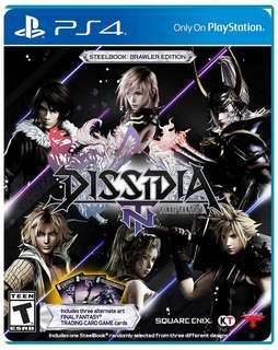 PS4 Dissidia Final Fantasy NT Brawler Ed (no cards)