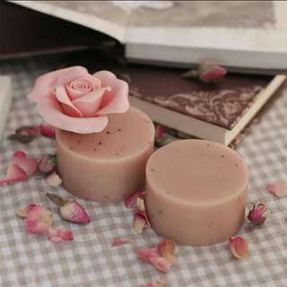 手工皂洗面皂潔面皂天然玫瑰精油皂冷制皂香皂 70g 保濕提亮肌膚