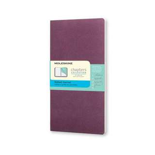 moleskine chapters collection ruled journal - plum purple