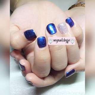 Gel manicure or pedicure - 2 gel color of ur choice!