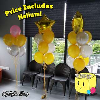 Stars With Balloons Package - Helium Filled