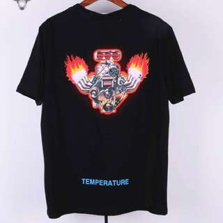 OFfwhite Fire tees in black