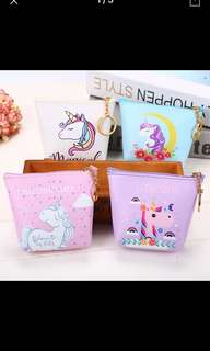 Cute unicorn coin purse