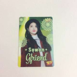 GFRIEND Sowon yes card
