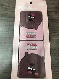 The Bare Bears Pocket Mirror