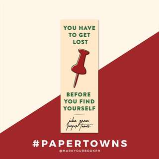 John Green Paper Towns Bookmark