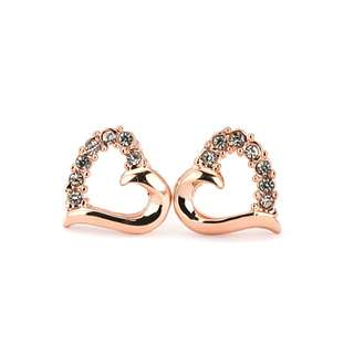 18K Rose Gold Plated Earrings
