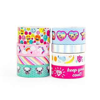 Trendy Brights Washi Tapes by Craft Smart