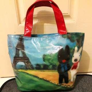 🚚 贈送~卡斯柏與麗莎防水方便手提包