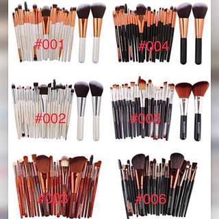 [PO] High Quality Fibre Essentials Make Up Brushes for Beginner (22 brushes)