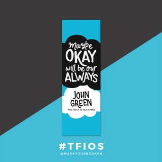 John Green The Fault in our Stars Bookmark