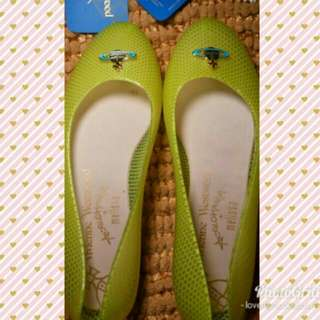 VIVIENNE WESTWOOD ANGLOMANIA 🍐Green FLATS