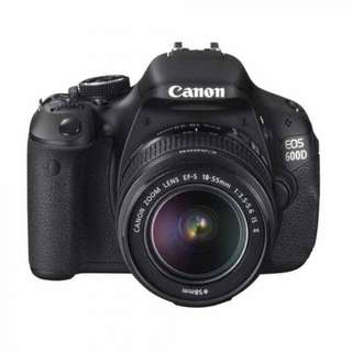 USED Canon EOS 600D + Standard EF-S 18-55MM ZOOM LENS