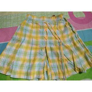 Yellow, blue, green plaid skort 💖