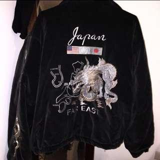 (便宜售)古著 刺繡夾克外套