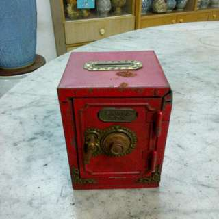 Metal Red Saving Box Vintage