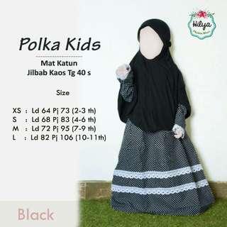 Gamis anak polka kids