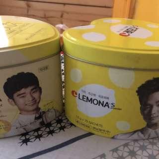 絕版 金秀賢 Lemona 鐵盒兩個
