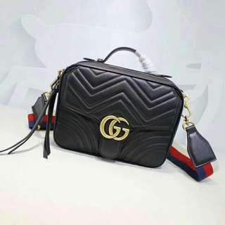 Gucci Marmont Top Handle with Ace Strap