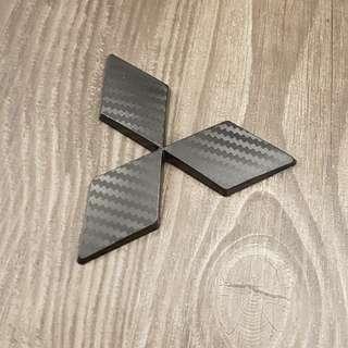 Mitsubishi Emblem Carbon